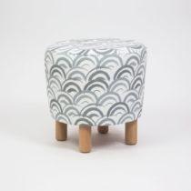 Taburet s drevenými nohami Cono Mimar, ⌀ 41 cm