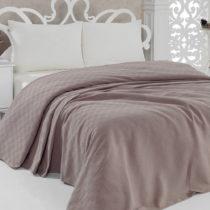 Ľahká prikrývka na posteľ Pique Brown, 200×...
