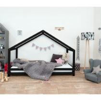 Čierna detská posteľ z lakovaného smrekového dreva Be...