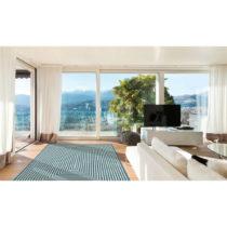 Svetlomodrý vysokoodolný koberec vhodný do exteriéru Floorita Br...