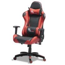 Čierno-červená kancelárska stolička Furnhouse Gaming