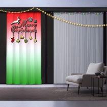Vianočný záves Red and Green, 140 x 260 cm