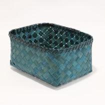 Modrý úložný kôšík z bambusu Compac...