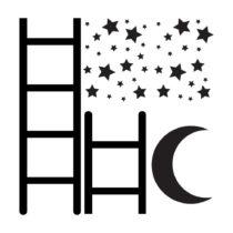Set nástenných samolepiek Dekornik Ladder To The Sky