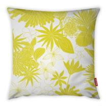 Žlto-biela obliečka na vankúš Vitaus Jungle Verde, 43&#xA...