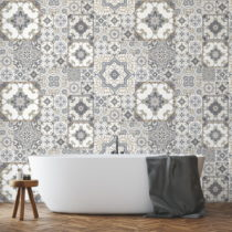 Sada 60 nástenných samolepiek Ambiance Wall Stickers Tiles Azulejos Taiga, 15&...