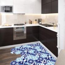 Sada 10 samolepiek na podlahu Ambiance Floor Stickers Hexagons Emiliana Azul, 40×...