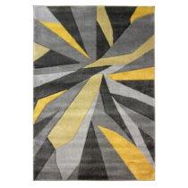 Žlto-sivý koberec Flair Rugs Shatter Ochre, 160×230&...