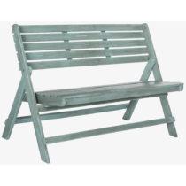Modrá záhradná skladacia lavica z akáciového dreva Safa...