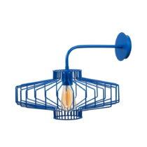 Modrá nástenná lampa Large Diamond