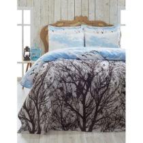 Ľahký pléd cez posteľ Peace Blue, 200x235 ...