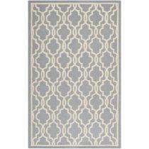 Vlnený koberec Elle 152x243 cm, sivý