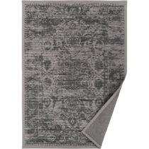Sivo-béžový vzorovaný obojstranný koberec Narma Palmse...