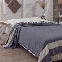 Prikrývka cez posteľ Baliksirti Dark Blue, 200×240 c...