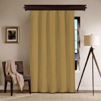 Horčicovohnedý záves Curtain Gardo, 140×260...