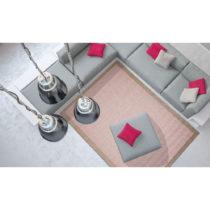 Ružový vysokoodolný koberec Floorita Chrome, 200×&...