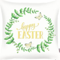 Zeleno-biela obliečka na vankúš Apolena Happy Easter, 43&...