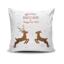 Vankúš Reindeeers Jumping, 45x45 cm