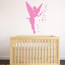 Ružová samolepka Ambiance Fairy, 55×85 cm