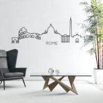 Samolepka na stenu v tvare obrysu mesta Ambiance Rím