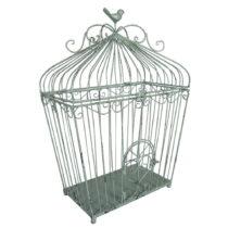 Mätovozelená kovová vtáčia klietka Antic Line, v&#...