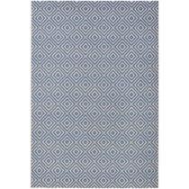 Modrý koberec vhodný aj do exteriéru Karo, 160×&#x...
