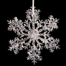 Závesná dekorácia v tvare snehovej vločky Unimasa Snow, &#x...