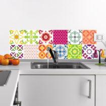 Sada 12 nástenných samolepiek Ambiance Wall Decals Elegant Tiles, 10&...
