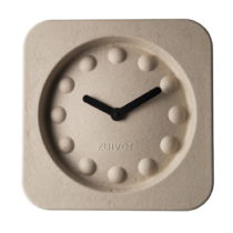 Béžové nástenné hodiny Zuiver Pulp Square