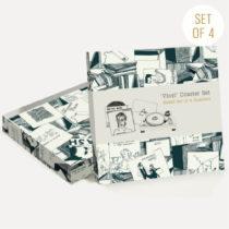 Sada 4 korkových podložiek U Studio Design Vinyl