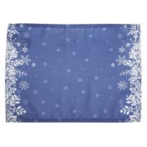 Sada 2 modrých prestieraní s vianočným motívom Apolena...