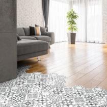 Sada 10 samolepiek na podlahu Ambiance Floor Tiles Hexagons Francia, 40×&#xA0...