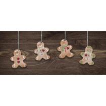 Vysokoodolný behúň Webtappeti Natale Gingerbreads, 60&#xD7...