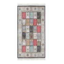 Sivý zamatový koberec Deri, 180 x 120 cm