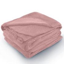Ružová deka z mikrovlákna AmeliaHome Tyler, 70 × 150 cm