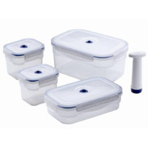 Set 4 boxov na potraviny a vákuovej pumpy Compactor Food Saver