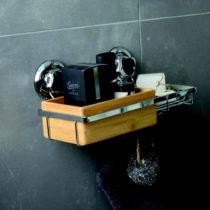 Bambusový nástenný košík s miskou na mydlo Compactor S...