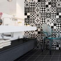 Sada 24 nástenných samolepiek Ambiance Wall Decal Cement Tiles Azulejos Yanga, 15&...