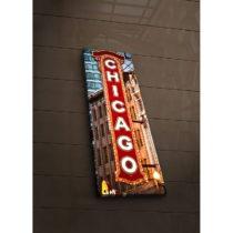 Podsvietený obraz Chicago, 30×90 cm