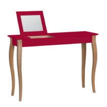 Červený toaletný stolík so zrkadlom Ragaba Lillo, š&a...