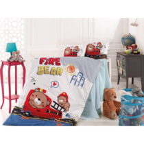 Set detskej bavlnenej obliečky Fire Bear, 100 x 150 cm