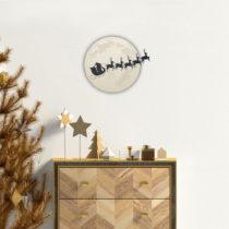 Vianočná samolepka Ambiance Moonlight Santa