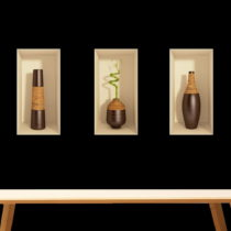 Sada 3 3D samolepiek Ambiance Bamboo