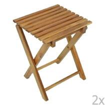 Sada 2 záhradných skladacích stoličiek z eukalyptového...