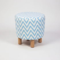 Taburet s drevenými nohami Cono Nina, ⌀ 41 cm