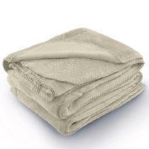 Béžová deka z mikrovlákna AmeliaHome Tyler, 70 × 150 c...