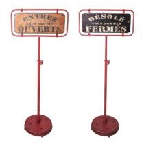 Sada 2 dekoratívnych stojacích cedúľ Antic Line panneau Ouvert ...
