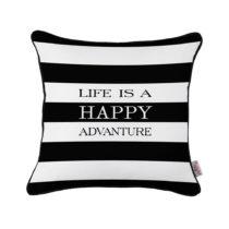 Čierno-biela obliečka na vankúš Apolena Adventure Life, 43&am...
