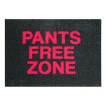 Čierna rohožka Mint Rugs StateMat Pants Free Zone, 50 × 75 cm