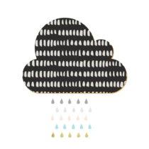 Dekoratívna samolepiaca nástenka Dekornik Black Cloud With Pastel Drops, 57&#x...